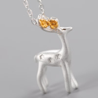 Messing Halskette, Hirsch, plattiert, Oval-Kette & für Frau & zweifarbig, frei von Blei & Kadmium, 400mm, verkauft per ca. 15.5 ZollInch Strang