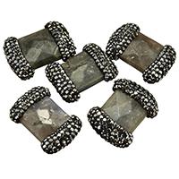 Labradorit Perle, mit Ton, natürlich, gemischt, 17-21x25-28x8-9mm, Bohrung:ca. 1mm, 10PCs/Menge, verkauft von Menge