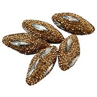 Kristall-Perlen, Lehm pflastern, mit Kristall, facettierte & mit Strass & gemischt, 14-18x33-36x14-17mm, Bohrung:ca. 1mm, 10PCs/Menge, verkauft von Menge