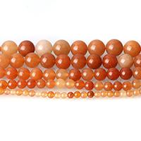 gefärbte Jade Perle, rund, verschiedene Größen vorhanden, orange, Bohrung:ca. 0.5-1.5mm, Länge:ca. 15 ZollInch, verkauft von Menge