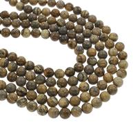 Bild Jaspis Perlen, rund, verschiedene Größen vorhanden, Bohrung:ca. 1mm, verkauft per ca. 14.5 ZollInch Strang