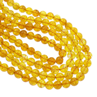 Knistern Quarz Perlen, rund, keine, 10mm, Bohrung:ca. 1mm, ca. 38PCs/Strang, verkauft per ca. 14.5 ZollInch Strang