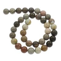 Natürliche Streifen Achat Perlen, rund, 10mm, Bohrung:ca. 1mm, ca. 38PCs/Strang, verkauft per ca. 14.5 ZollInch Strang