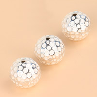 925 Sterling Silber Perlen, rund, 10.8mm, Bohrung:ca. 1.4mm, verkauft von PC