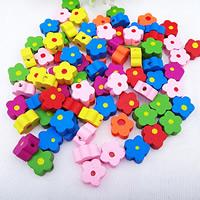Holzperlen, Holz, Spritzlackierung, gemischt, farbenfroh, 12mm, Bohrung:ca. 1.5mm, 1480PCs/Tasche, verkauft von Tasche