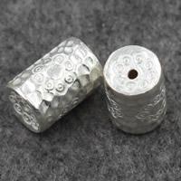 925 Sterling Silber Perlen, Zylinder, 15x11mm, Bohrung:ca. 1.5mm, verkauft von PC