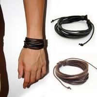 Rindsleder Armband, Kuhhaut, mit Hanfgarn, für Frau, keine, 240x20mm, verkauft per ca. 9 ZollInch Strang