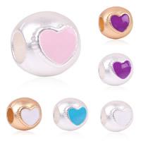 Zink Legierung Europa Perlen, Zinklegierung, Trommel, plattiert, ohne troll, keine, frei von Blei & Kadmium, 9.5x10mm, Bohrung:ca. 4.5-5mm, 10PCs/Tasche, verkauft von Tasche