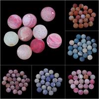 Natürliche Effloresce Achat Perlen, Auswitterung Achat, rund, verschiedene Größen vorhanden, keine, Bohrung:ca. 1mm, 10PCs/Tasche, verkauft von Tasche
