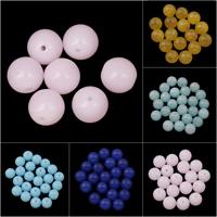 gemischter Achat Perle, rund, verschiedenen Materialien für die Wahl & verschiedene Größen vorhanden, Bohrung:ca. 1mm, 10PCs/Tasche, verkauft von Tasche