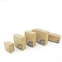 Kraftpapier Schmucksetkasten, mit Schwamm, verschiedene Stile für Wahl & mit Blumenmuster, 100PCs/Menge, verkauft von Menge
