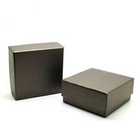 Papier Schmucksetkasten, Ohrring & Halskette, mit Schwamm, Quadrat, Kaffeefarbe, 73x73x35mm, 100PCs/Menge, verkauft von Menge