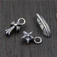 Bali Sterling Silber Anhänger, Thailand, verschiedene Stile für Wahl, Bohrung:ca. 2-3mm, 10PCs/Menge, verkauft von Menge