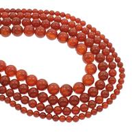 Natürlich rote Achat Perlen, Roter Achat, rund, verschiedene Größen vorhanden, Bohrung:ca. 1mm, verkauft per ca. 15.5 ZollInch Strang