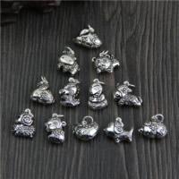 Bali Sterling Silber Anhänger, Thailand, gemischt, 13.66-18.2x11.9-18.7mm, Bohrung:ca. 2mm, 5PCs/Menge, verkauft von Menge