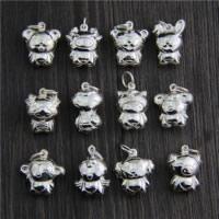 Bali Sterling Silber Anhänger, Thailand, gemischt, 13-19x18-21.5mm, Bohrung:ca. 2mm, 5PCs/Menge, verkauft von Menge