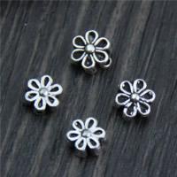 Bali Sterling Silber Perlen, Thailand, Blume, verschiedene Stile für Wahl, 20PCs/Menge, verkauft von Menge