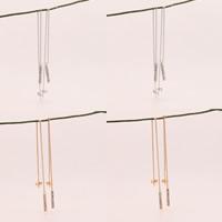 Zinklegierung Tropfen Ohrring, Edelstahl Stecker, plattiert, mit Strass, keine, frei von Blei & Kadmium, 135mm, verkauft von Paar