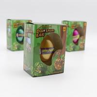 Dinosaurier-Eier, EVA, gemischte Farben, 45x65mm, 3PCs/Tasche, verkauft von Tasche