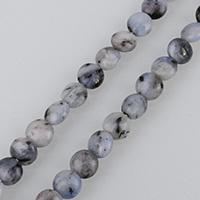 Opal blau Perle, flache Runde, natürliche & verschiedene Größen vorhanden, Bohrung:ca. 0.5-1.5mm, verkauft per ca. 15.5 ZollInch Strang