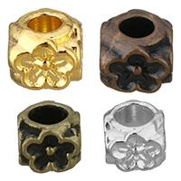 Zinklegierung Blumenperlen, plattiert, verschiedene Größen vorhanden, keine, frei von Nickel, Blei & Kadmium, 100PCs/Menge, verkauft von Menge