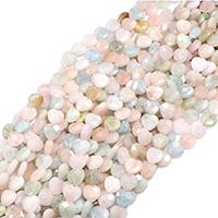Morganit Perle, Herz, natürlich, verschiedene Größen vorhanden & facettierte, Bohrung:ca. 0.5mm, verkauft per ca. 15 ZollInch Strang