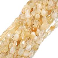 Natürlicher Citrin Perlen, Gelbquarz Perlen, Klumpen, November Birthstone & verschiedene Größen vorhanden & facettierte, Bohrung:ca. 0.5-1mm, verkauft per ca. 15 ZollInch Strang