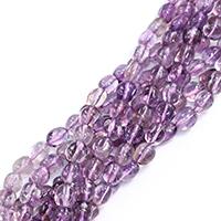 Natürliche Amethyst Perlen, Klumpen, Februar Birthstone & verschiedene Größen vorhanden, Bohrung:ca. 0.5-1mm, verkauft per ca. 16 ZollInch Strang