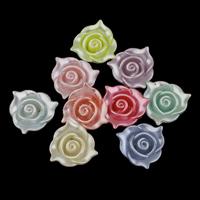 Plattierte Acrylperlen, Acryl, bunte versilbert & gemischt, 22x21x8.50mm, Bohrung:ca. 2mm, ca. 410PCs/Tasche, verkauft von Tasche
