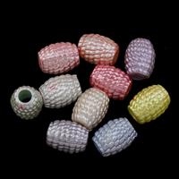Plattierte Acrylperlen, Acryl, bunte versilbert & ohne troll & gemischt, 15x11mm, Bohrung:ca. 5mm, ca. 450PCs/Tasche, verkauft von Tasche