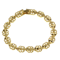 Messing-Armbänder, Messing, goldfarben plattiert, für Frau, frei von Nickel, Blei & Kadmium, 8.5x3mm, verkauft per ca. 7 ZollInch Strang