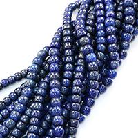 Lapislazuli Perlen, natürlicher Lapislazuli, Trommel, 8x10x10mm, Bohrung:ca. 0.5mm, ca. 46PCs/Strang, verkauft per ca. 16 ZollInch Strang