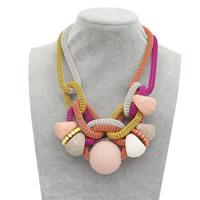 Zinklegierung Pullover Halskette, mit Harz, mit Verlängerungskettchen von 3.1Inch, plattiert, Einbrenn-Lack & Maschen-Kette & für Frau & facettierte, frei von Nickel, Blei & Kadmium, verkauft per ca. 26.3 ZollInch Strang
