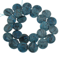 Sodalith Perlen, Sosalith, flache Runde, gefärbt, 16x4mm, Bohrung:ca. 1mm, ca. 26PCs/Strang, verkauft per ca. 15.5 ZollInch Strang