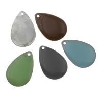 Freiraum-Schmuck-Anhänger, Eisen, Emaille & gemischt, 22x14x2mm, Bohrung:ca. 1.5mm, 10PCs/Tasche, verkauft von Tasche