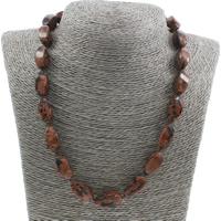 Unisex Halskette, Goldsand, Messing Karabinerverschluss, Twist, 10x20mm, verkauft per ca. 18 ZollInch Strang