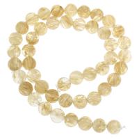 Gelbquarz Perlen Perle, rund, November Birthstone & verschiedene Größen vorhanden, Bohrung:ca. 1mm, verkauft per ca. 15 ZollInch Strang