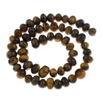 Tigerauge Perlen, 8x9x7mm-9x9x10mm, Bohrung:ca. 1mm, ca. 56PCs/Strang, verkauft per ca. 15.5 ZollInch Strang