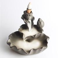 Porcelain Backflow Incense Burner, Porzellan, handgemacht, 120x110x95mm, verkauft von PC