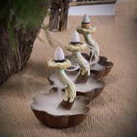 Porcelain Backflow Incense Burner, Porzellan, handgemacht, 85x84mm, verkauft von PC