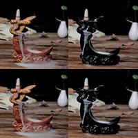 Porcelain Backflow Incense Burner, Porzellan, handgemacht, keine, 130x140x60mm, verkauft von PC