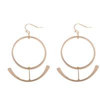 Zinklegierung Tropfen Ohrring, Eisen Haken, goldfarben plattiert, frei von Blei & Kadmium, 50-60mm, verkauft von Paar