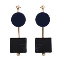 Harz Ohrring, Zinklegierung, mit Kunststoff Ohrmutter & Harz, Edelstahl Stecker, goldfarben plattiert, frei von Blei & Kadmium, 27x85mm, verkauft von Paar