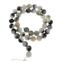 Labradorit Perlen, mexikanischer Jaspis, rund, verschiedene Größen vorhanden, Bohrung:ca. 1mm, verkauft per ca. 15 ZollInch Strang
