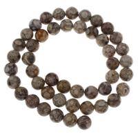 Natürliche Tibetan Achat Dzi Perlen, Maifan Stein, rund, verschiedene Größen vorhanden, Bohrung:ca. 1mm, verkauft per ca. 15 ZollInch Strang