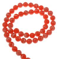 Rhodonit Perlen, rund, synthetisch, verschiedene Größen vorhanden, Bohrung:ca. 1mm, verkauft per ca. 15 ZollInch Strang