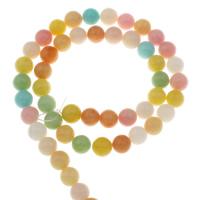 gefärbter Marmor Perle, rund, Spritzlackierung, verschiedene Größen vorhanden, Bohrung:ca. 1mm, verkauft per ca. 15 ZollInch Strang