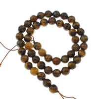 Tigerauge Perlen, rund, verschiedene Größen vorhanden & facettierte, Bohrung:ca. 1mm, verkauft per ca. 15 ZollInch Strang