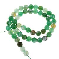 Natürliche grüne Achat Perlen, Grüner Achat, rund, verschiedene Größen vorhanden & facettierte, Bohrung:ca. 1mm, verkauft per ca. 15 ZollInch Strang