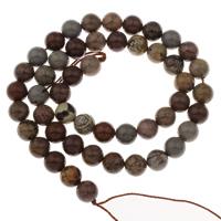 chinesischer lackierter Stein Perle, rund, verschiedene Größen vorhanden, Bohrung:ca. 1mm, verkauft per ca. 15 ZollInch Strang